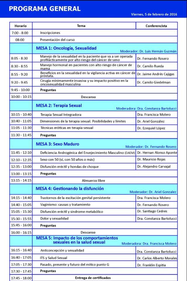 Programa II Jornada Sexologia